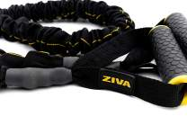 ZIVA Portable Lightweight Sports Resistance Tube, Band with Foam Handles for Home Fitness, Stretching, Strength Training, Physical Therapy, Crossfit, Balance Workouts – Multiple Strengths