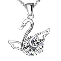 The Elegance of Swan Sterling Silver Pendant Necklace