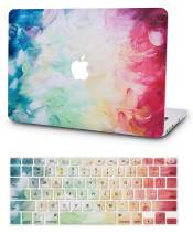 """KECC Laptop Case for Old MacBook Pro 13"""" Retina (-2015) w/Keyboard Cover Plastic Hard Shell Case A1502/A1425 2 in 1 Bundle (Fantasy)"""