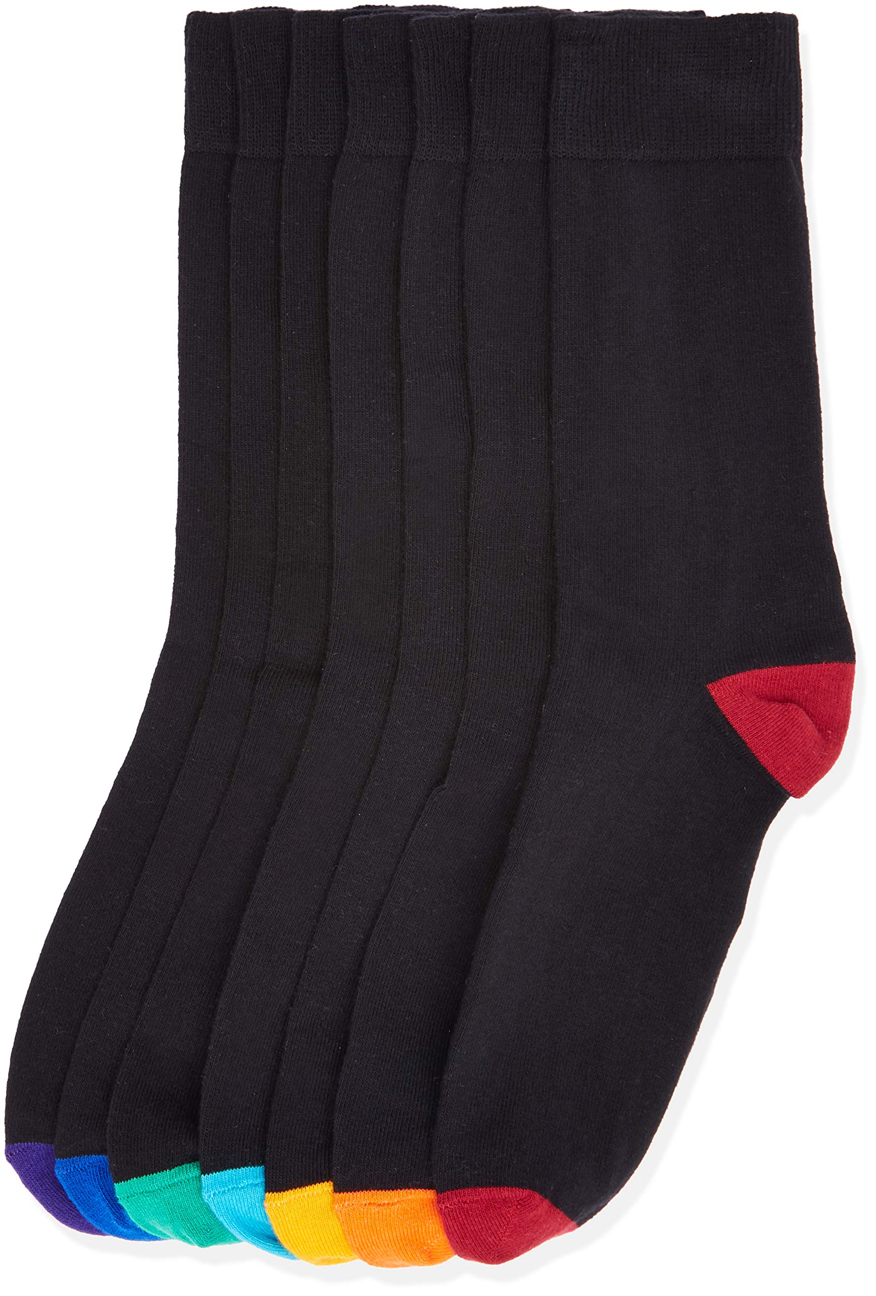 Amazon Brand - find. Men's 7 Pack Cotton Ankle Socks - Assorted Designs