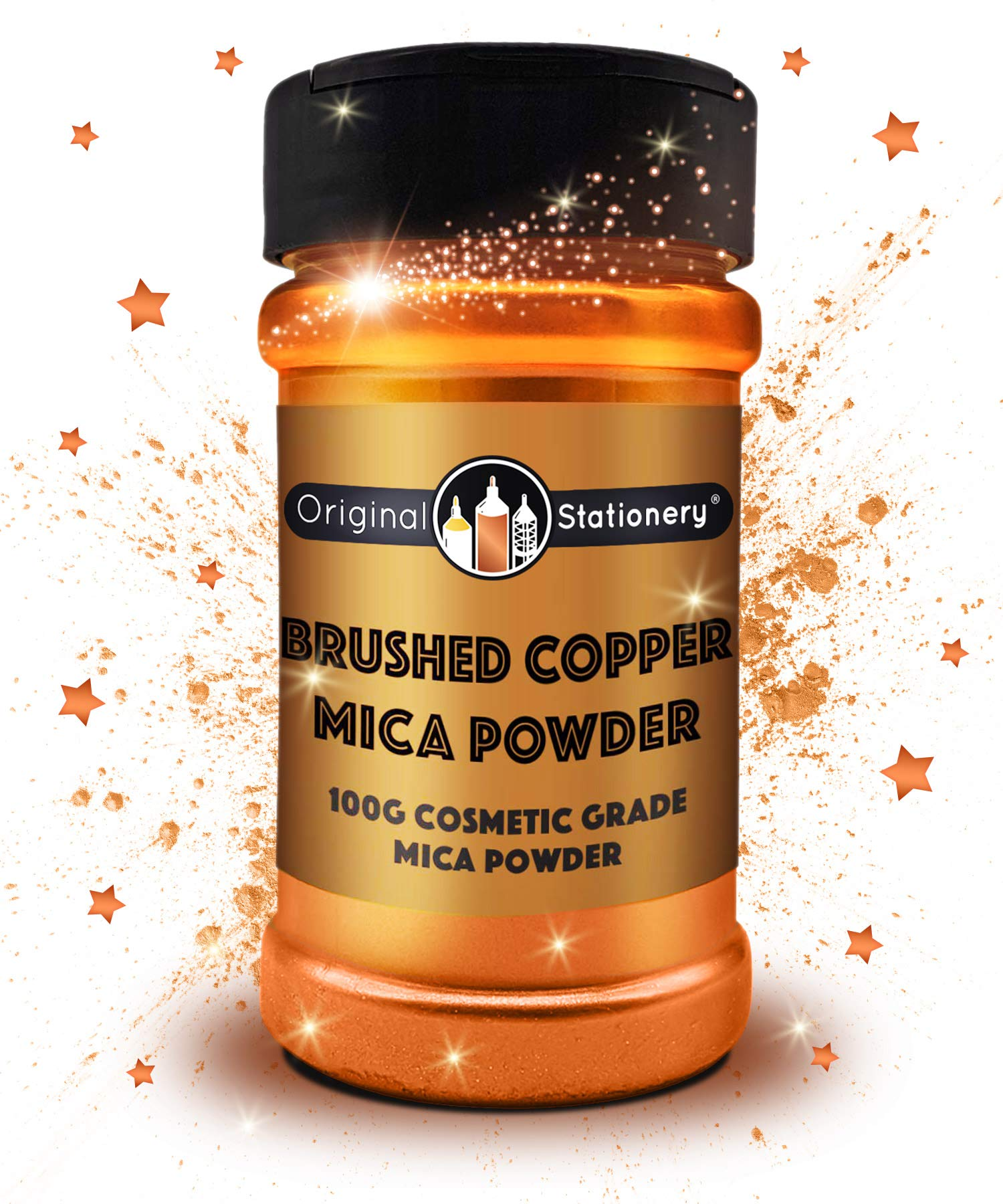 Mica Powder - 3.5 oz / 100 g [HUGE x3-5 THE SIZE OF OUR COMPETITORS] Cosmetic Grade – True Colors – Beautiful Mica for Slime, Soap Making, Bath Bombs, Makeup, Nails, Decor (Brushed Copper)