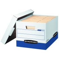 Bankers Box R-Kive Heavy-Duty Storage Boxes, FastFold, Lift-Off Lid, Letter/Legal, Value Pack of 20 (0724314)