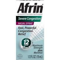 Afrin Severe Congestion Nasal Spray 15 mL (Pack of 8)