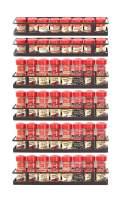 GONGSHI 6 Pack Wall Mount Single Tier Spice Rack Organizer - Seasoning Shelf for Cabinet Cupboard Pantry Door
