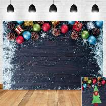 Winter Snow Wooden Board Photo Background Xmas Birthday Decorations Banner Photography Backdrop Vinyl 7x5ft Merry Christmas Balls Gift Photography Backdrop Family Photo Booths Baby Shower Supplies