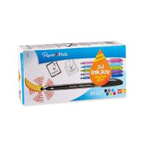Paper Mate InkJoy 100ST Ballpoint Pen and Touchscreen Stylus, Capped, Assorted Colors (1924372)