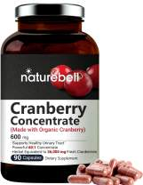 Organic Cranberry Whole Fruit Concentrate, 36, 000mg Herbal Equivalent, 90 Capsules, powerfully Supports Urinary Tract Cleanse, kidney & Bladder Health, No Gmos & Made In Usa