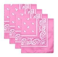Sllaiss 4Pcs 100% Cotton Paisley Bandanas Multi-Purpose Handkerchief Cowboy Bandanas Face Scarf Headband Unisex Headwraps 22 x 22 inch
