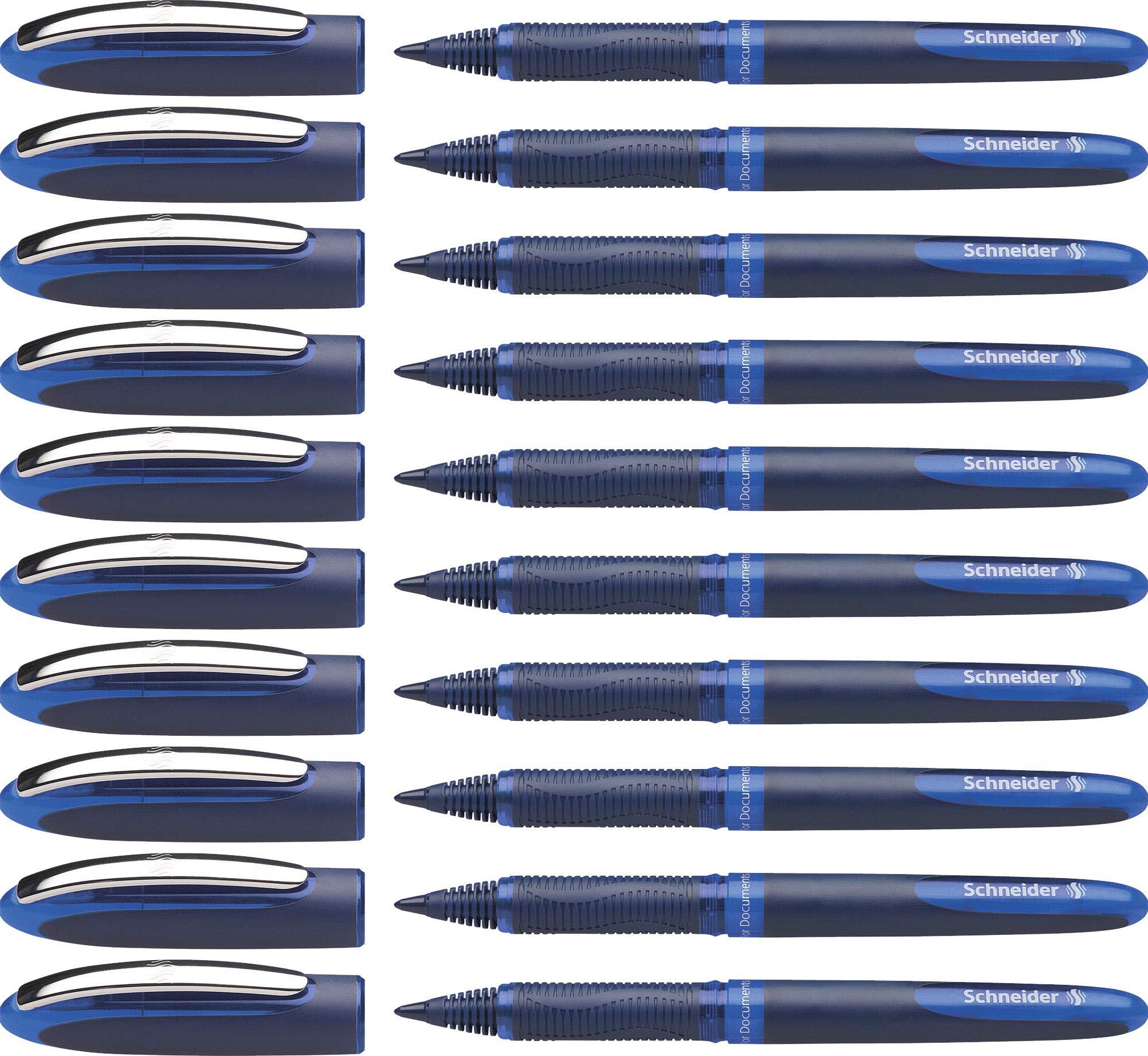 Schneider ONE Business Rollerball Pen, 0.6mm, Blue, Box of 10 (183003)