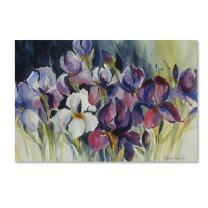 """White Iris Artwork by Rita Auerbach, 16 x 24"""" Canvas Wall Art"""