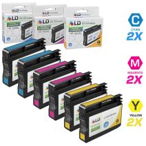 LD Remanufactured Ink Cartridge Replacement for HP 933XL High Yield (2 Cyan, 2 Magenta, 2 Yellow, 6-Pack)