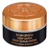 BIOAURVEDA Deep Detox Body Scrub Cream with Green Tea | Face and Body Exfoliator | Organic Scrub Moisturizer For Deep Cleansing | Reduce Blackheads, Acne, Scars | Enhance Skin Tone (0.7 Oz)