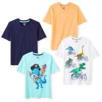 Amazon Brand - Spotted Zebra Boys' Short-Sleeve V-Neck T-Shirts