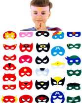 30 Superhero Masks Kids-Super Hero Party Supplies Justice League Birthday Favors (30 mask)