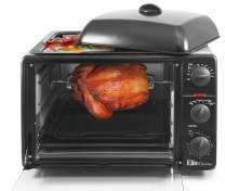 """Maxi-Matic Countertop Toaster Oven with Top Grill & Griddle Rotisserie, Bake, Grill, Broil, Roast, Toast, Keep Warm, 23L Capacity, fits a 12"""" Pizza, 6-Slice, ERO-2008S"""