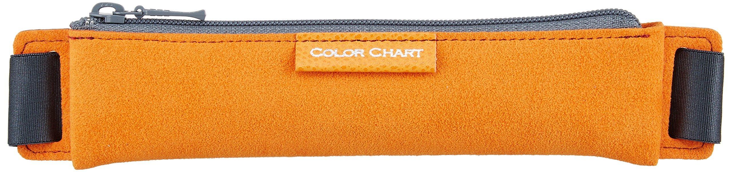 ITOYA Color Chart Ecsaine Notebook Band - Pen Case A5 Orange