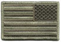 Tactical Reverse USA Flag Patch - ATACS-Tan