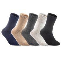 Lian LifeStyle Women's 4 Pairs Perfect Fit Wool Blend Crew Boot Socks Size 6-9