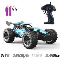 GotechoD Remote Control Car 1:18 RC Cars for Kids 2.4Ghz High Speed Racing Car Rechargeable Electronic Hobby Car Toys for 6,7,8-16 Year Old Boys Girls Adults Gifts Blue