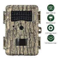 "Boskoncam Hunting Camera 14MP 1080P IP67 Waterproof Trail Game Camera with No Glow Night Vision Hunting Camera Scouting Camera Up to 82ft 0.3s Trigger Time Motion Activated, 2.4"" LCD Color Screen"