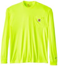 Carhartt Men's Big & Tall High Visibility Force Color Enhanced Long Sleeve T-Shirt