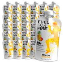 Fuel For Fire - Tropical (24 Pack) Fruit & Protein Smoothie Squeeze Pouch | Perfect for Workouts, Kids, Snacking - Gluten Free, Soy Free, Kosher (4.5 ounce pouches)