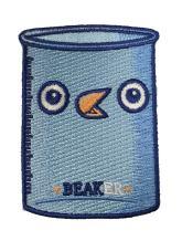 Randy Otter Beaker Funny Bird Science Glass Iron On Patch