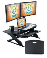 """iMovR ZipLift+ Wide Standing Desk Converter, Black, 42"""""""
