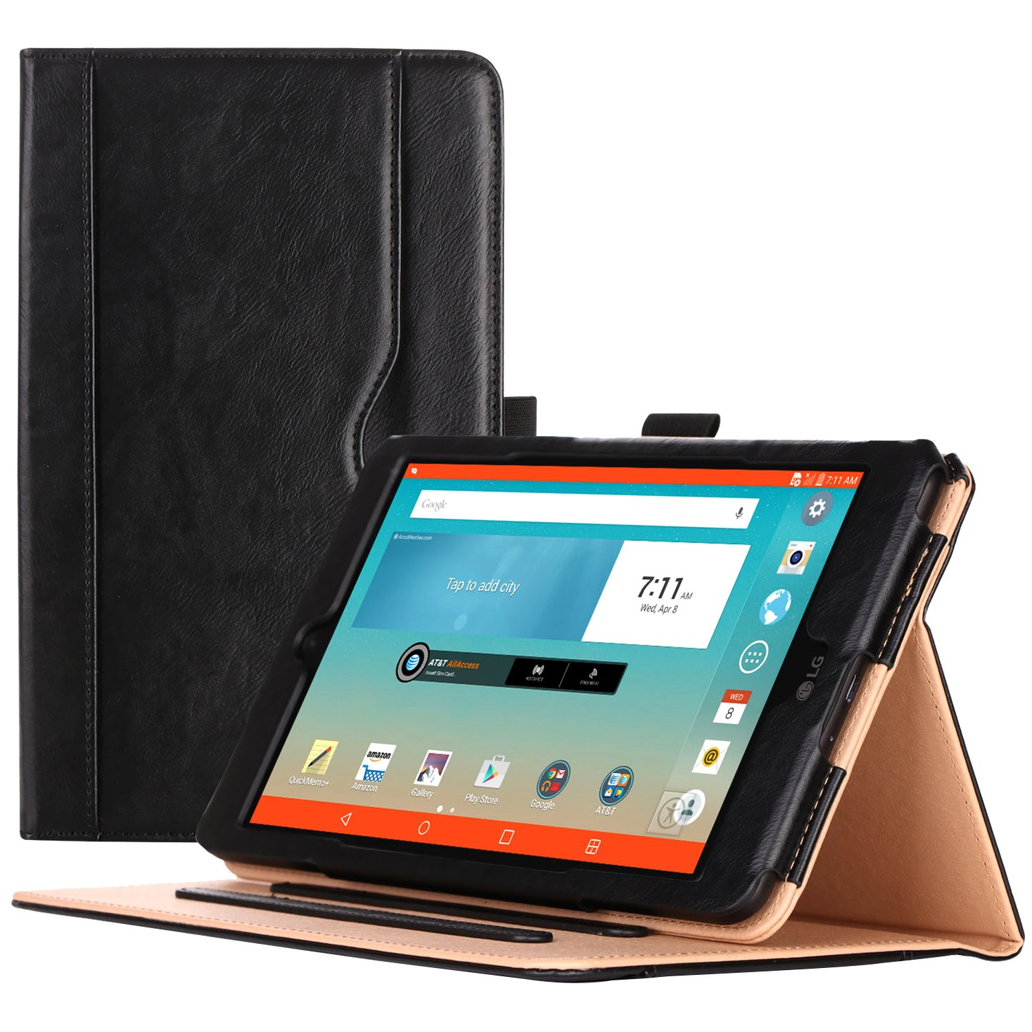 """ProCase Sprint LG G Pad F2 8.0 Case/T-Mobile LG G Pad X2 8.0 Plus Case - Standing Cover Folio Case for LG GPad F2 Sprint Model LK460 / LG G Pad X2 8.0 Plus V530 8"""" Tablet 2017 -Black"""