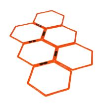 EFITMENT Hexagonal Hex Speed Rings, Agility Rings, Training Rings, Workout Rings for Fitness & Foot Work - A009