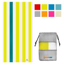 SUN CUBE Microfiber Beach Towel | Sand Free Towel, Lightweight, Quick Dry, Compact Swim Towel for Adults | Packable Easy to Carry Towel for Beach, Pool, Camping, Travel