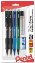 Pentel Twist-Erase Express Mechanical Pencil, 0.5mm, Assorted Barrel Colors (QE415LZBP4)