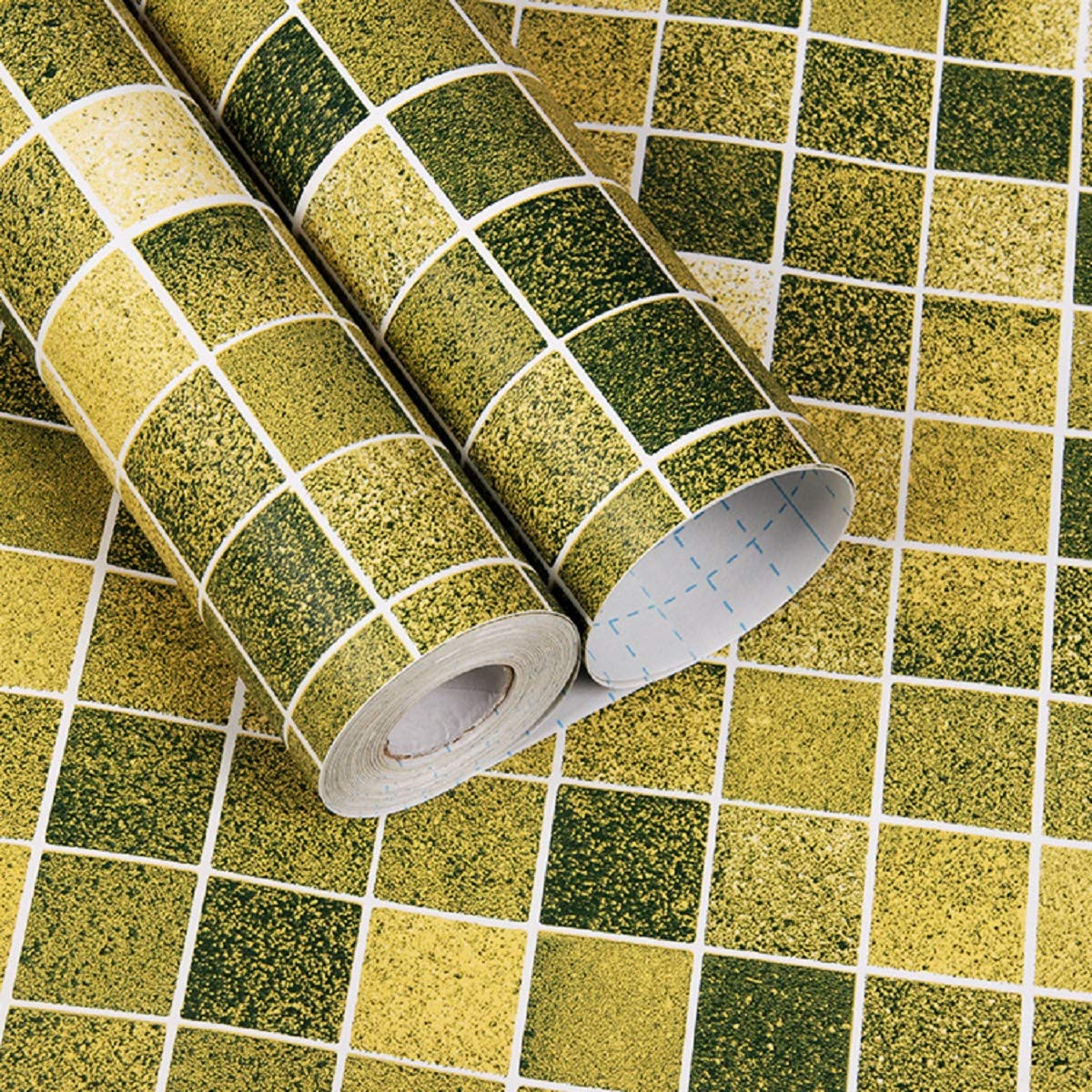 practicalWs PVC Mosaic Contact Paper Bathroom Kitchen Cabinet Home Decoration Anti-Water Oil-Proof Easy to Clean and Install Wall Sicker Removable 17.7 inch x196 inch