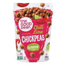 The Good Bean Crunchy Chickpeas Snacks, Chili Lime, 6 Ounce (Pack Of 6)