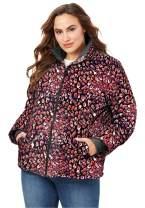 Roaman's Women's Plus Size Short Puffer Jacket