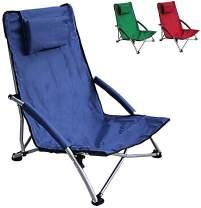 HJ HELLO JOURNEY Low Sling Beach Chair Camping Chair Folding Lightweight