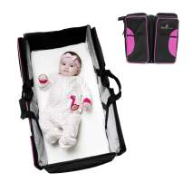 Primo Passi Nido 3 in 1 Premium Portable Diaper Bag Travel Bassinet and Change Station | Bassinet Bag (Pink)