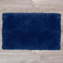 "Nestl Bedding Large Shaggy Rug with Non-Slip Rubber Backing – Machine Washable Super Soft Microfiber Rug – Plush Absorbent Bath Rug - 32""x48"", Royal Blue"