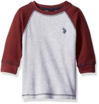 U.S. Polo Assn. Boys' Long Sleeve Solid Crew Neck T-Shirt