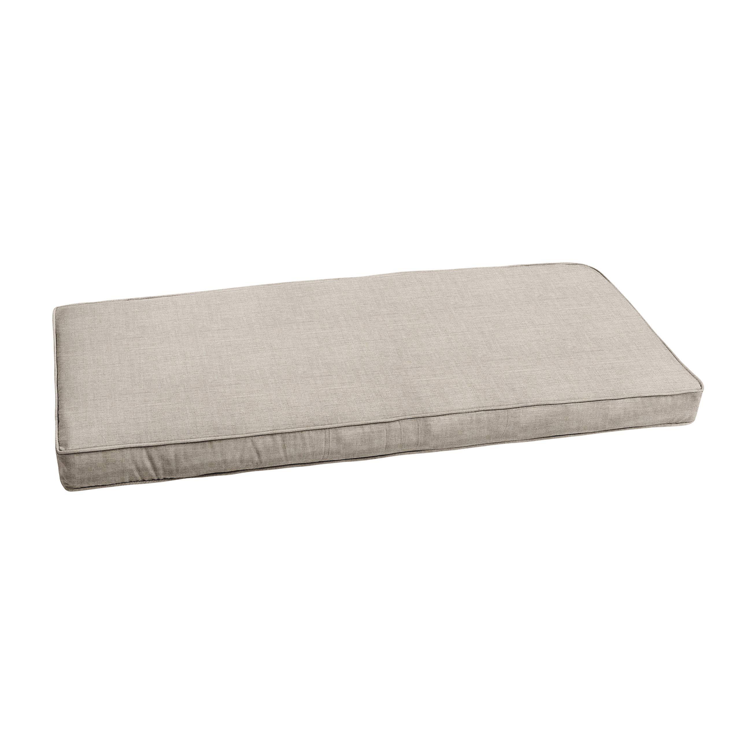 "Mozaic AMZCS113326 Sunbrella Indoor/Outdoor Corded Bench Cushion, 56""x19.5"", Cast Silver"