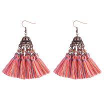 D EXCEED Fashion Colorful Tassel Earrings for Women Girls Bohemian Dangle Drop Earrings Christmas Gift Idea Fringe Tassle Dangling Earrings