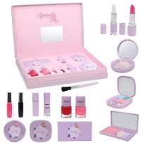 DRESS 2 PLAY Beauty Me Makeup Set, Super Set 10 Piece Deluxe Purple Pastel Pretend Playset Carry Case with Mirror
