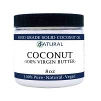 Coconut Butter-NakedOil 100% Coconut Oil, Organic Extra Virgin Unrefined Cold Pressed Coconut Oil. Certified Food and Therapeutic Grade (16 Ounce)