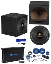 "Rockville W12K9D4 12"" 4000w Car Subwoofer+Sealed Box+Mono Amplifier+Amp Kit"
