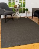 Natural Area Rugs 100% Natural Fiber, Handmade Kenning Black Sisal Rug, 9' x 12'
