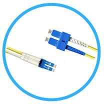 FiberShack - Duplex Fiber Optic Patch Cables - Single Mode - LC, ST, SC. 1M & 3M. (3M, LC to SC)