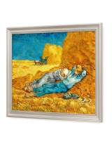 DECORARTS - Noon: Rest from Work, Vincent Van Gogh Art Reproduction. Giclee Print with Matching Frame, 16x20, Framed Size: 19x23