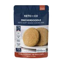 Snickerdoodle Soft-Baked Keto Cookie Mix by Keto and Co | Just 1.3g Net Carbs Per Serving | Gluten Free, Low Carb, No Added Sugar, Naturally Sweetened | (Snickerdoodle Cookies)