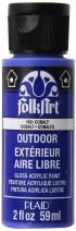 FolkArt Outdoor Acrylic Paint in Assorted Colors (2 Ounce), 1631 Cobalt