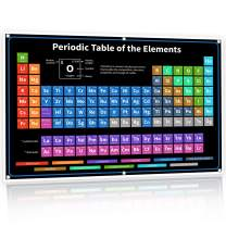 2020 The Periodic Table of Elements Vinyl Poster - XL Large Jumbo 54 inch Black - 2021 Version Banner - Science Chemistry Chart for Teachers, Students, Classroom - Newest 118 Elements